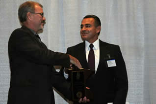 Commissioner Roy and Corrections Person of the Year Steve Sanchez
